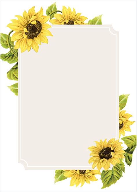 sunflower frame wedding invitations country wedding