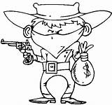 Coloring Cowboy Western Wecoloringpage sketch template