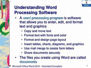 word 2010 unit a ppt With document processing software