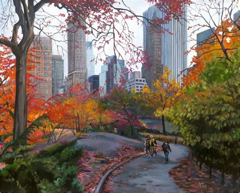 art de joie  york city oil painting central park