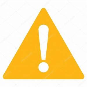 Warning flat yellow color icon — Stock Vector © ahasoft ...