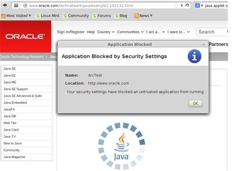 java quot application blocked by security settings quot prevent applets running using oracle se 7