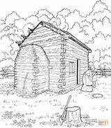 Cabin Coloring Log Lincoln Abraham Pages Printable Sketch Cabins Logs Drawing Clipart Colouring Abe Supercoloring Adult Sheets Mountain Books Popular sketch template