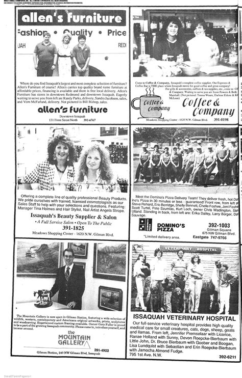 Issaquah coffee | we are a coffee shop serving the best coffee on the eastside and having fun doing it. The Issaquah Press July 27, 1988: Page 22