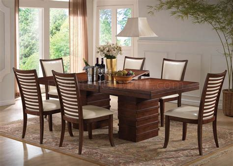 acme furniture nostalgia casual pedestal 70020 pacifica dining table in cherry by acme