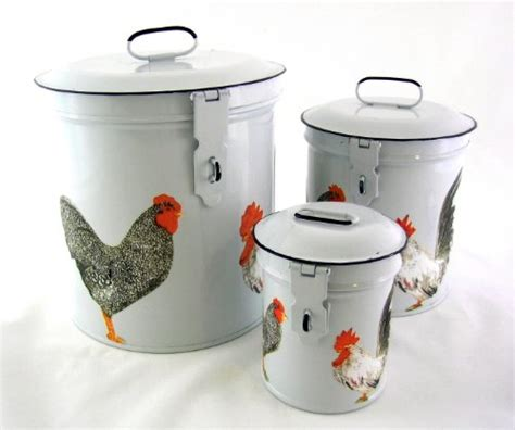 country canisters for kitchen rooster themed kitchen