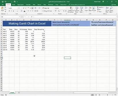 Excel Gantt Chart Template Tutorial Creator Maker