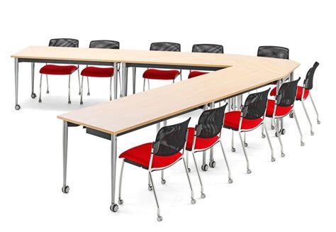 conference table desk combination mobile folding conference tables config 6 kite office