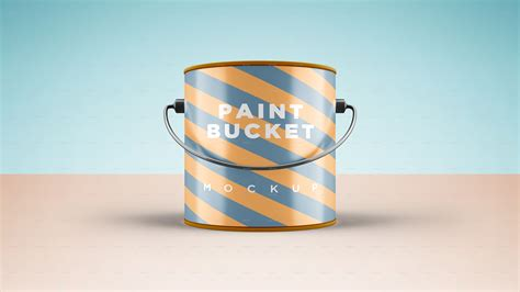 Posted in photoshop » banner & mockup template. Paint Bucket Mockup #Ad #Mockup, #AFFILIATE, # ...