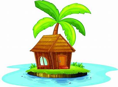 Clipart Island Hut Clip Water Getdrawings Beach