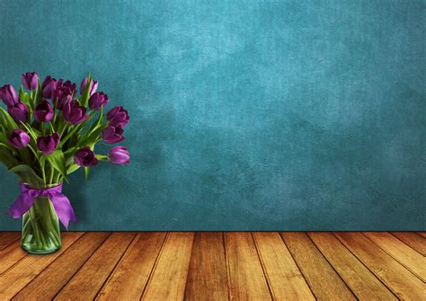 images tulips room wood vase wall ribbon