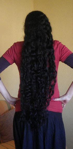 curly rapunzel classic length hair  waist length