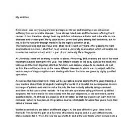 ambitions life essay