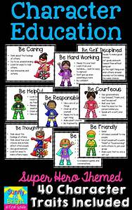Free Digital Seating Chart Superhero Themed Character Education Posters Character