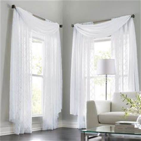 kitchen curtains sears canada wholehome classic tm mc leona embroidered sheer scarf