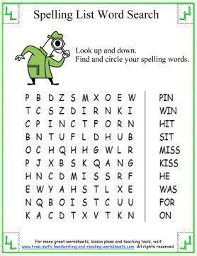 st grade spelling worksheets bing images st grade