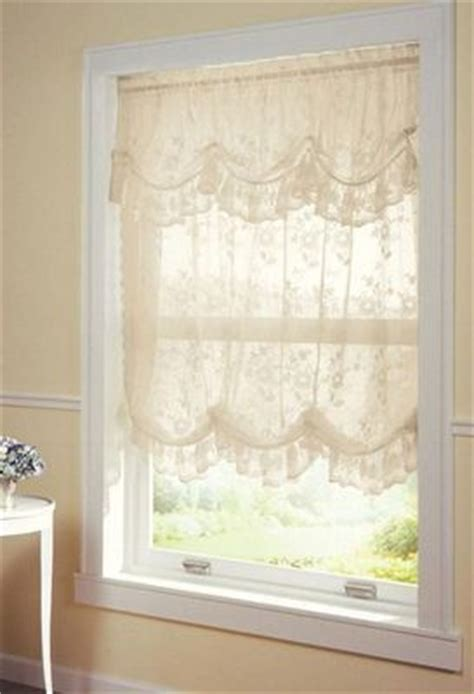 new ivory lace adjustable gathered balloon shade curtain w