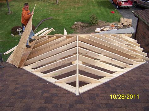 roof framing front porch addition lauras room