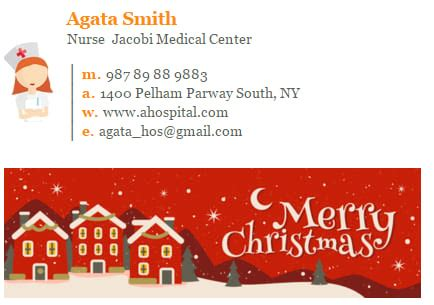 how to choose a christmas banner for email signature newoldst