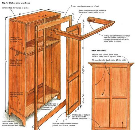 how to build shaker cabinet building a shaker style wardrobe finewoodworking