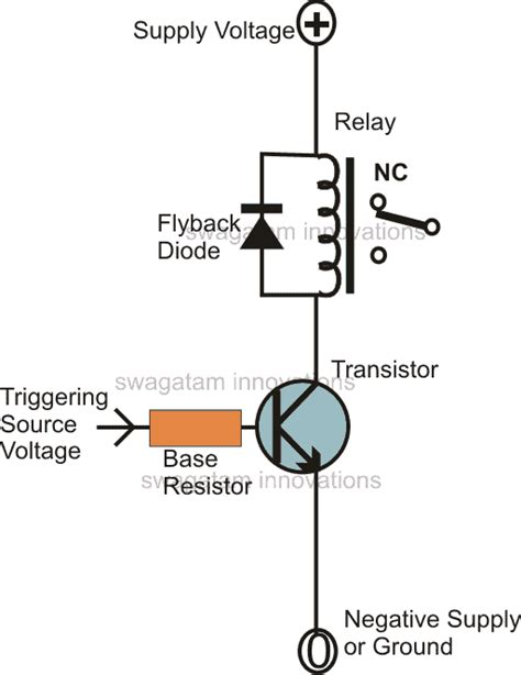 Transistor Relay Driver Circuit With Formula