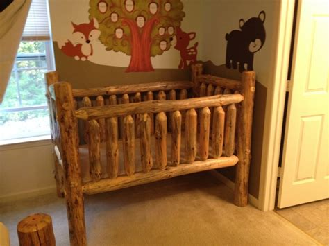 rustic baby cribs solid wood crib unfinished finishes on antique rustic