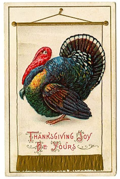vintage thanksgiving clip art colorful turkey