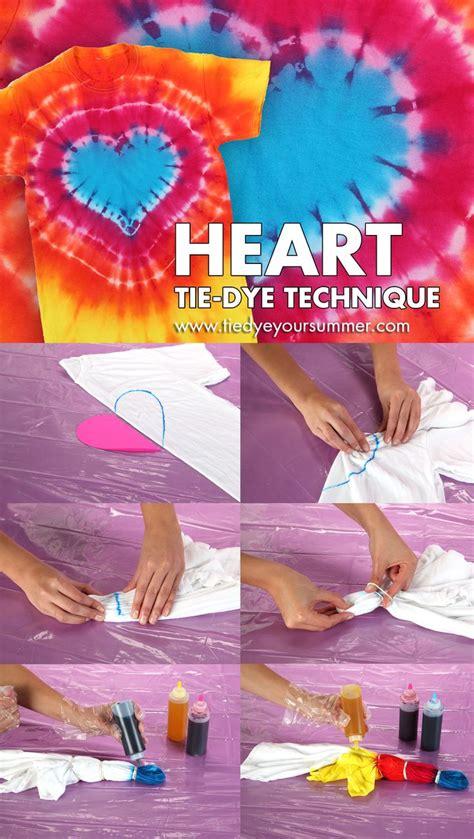 Heart Tie Dye Technique Pattern Make This Cool Technique
