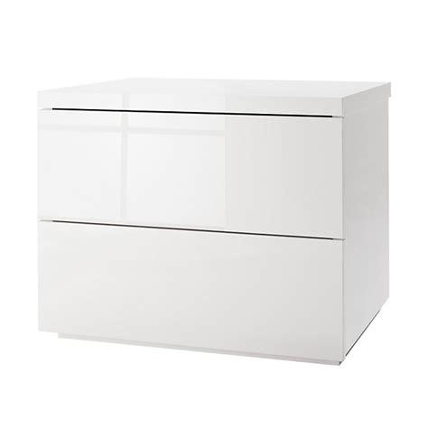 table de chevet blanche laqu 233 e 2 tiroirs san diego tables de chevet chambre par pi 232 ce alin 233 a