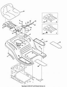 Mtd 13w2775s031  Lt4200   2014  Parts Diagram For Seat