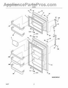 Parts For Frigidaire Frt21s6awh  Door Parts