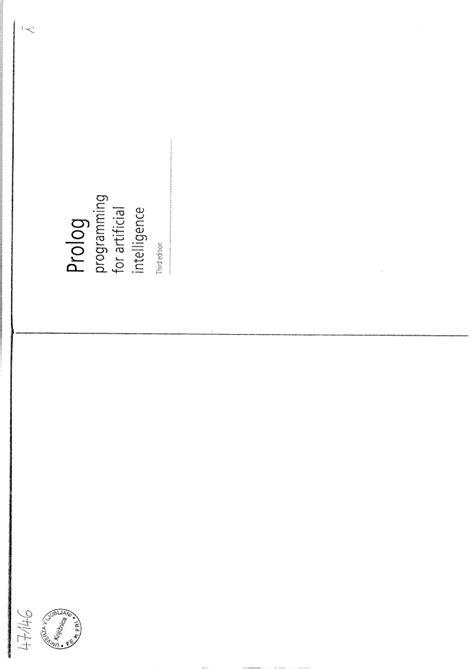 IVAN BRATKO PROLOG PDF