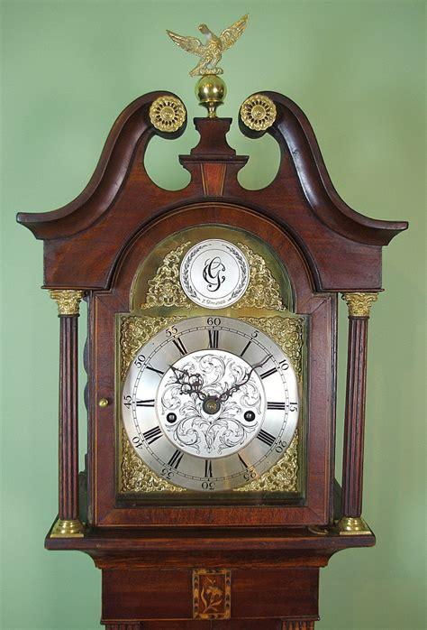 grandmother clock longcase small size weight driven  sellingantiquescouk