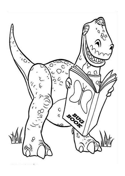 rex  reading  book  toy story coloring page  print  coloring pages