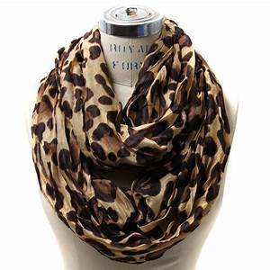 Leopard Infinity Scarf Style Women Girl's Shawl Wrap Stole ...