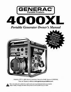 Generac 4000xl 9777-2 Owner U0026 39 S Manual