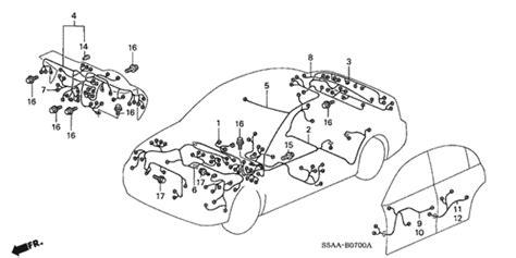 2005 Civic Engine Wire Harnes by 2004 2005 Honda Civic Sedan Wire Harness Engine Room