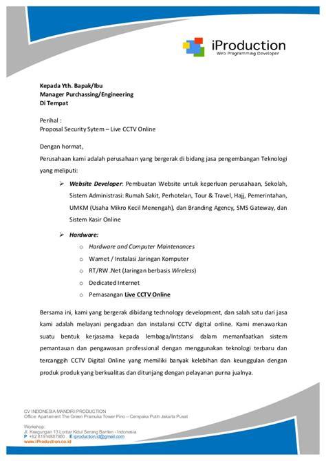 proposal penawaran  cctv