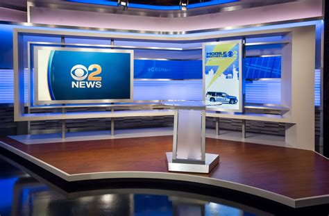 Cbs New York Wcbs Studio 46 Set Design Gallery