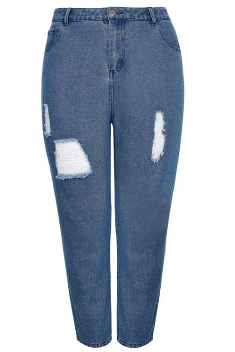 Limited Collection Khaki Distressed Skinny Jeans Plus Size 16 To 36 - limited collection blue distressed mom jeans plus size 16 to 32