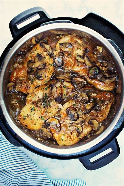 saucy instant pot chicken marsala crunchy creamy sweet