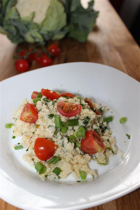 basischer blumenkohl couscous salat ohne couscous