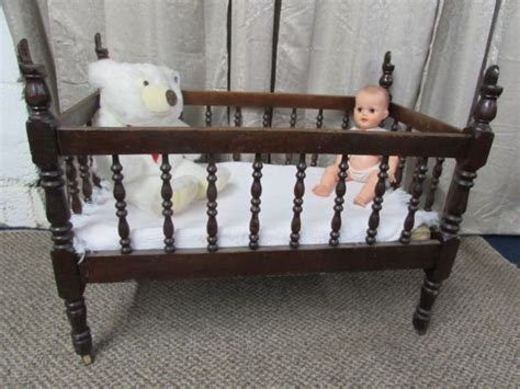 vintage baby cribs lot detail antique c 1880 s solid wood baby crib