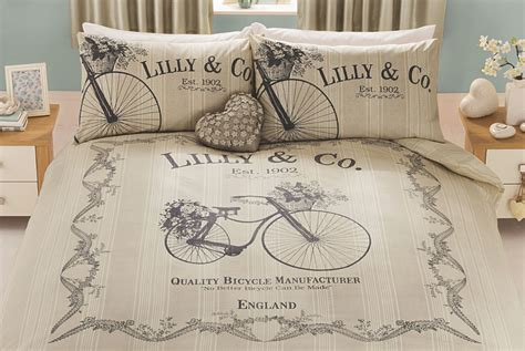 cotton sheets king lilly co vintage bicycle duvet set cyclemiles