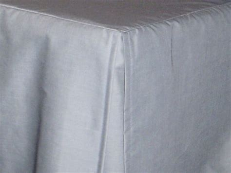 Light Silver Gray Tailored Bedskirt (for cribs and daybeds