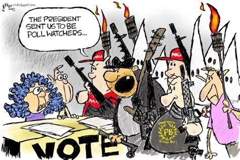 cartoon presidential poll watchers