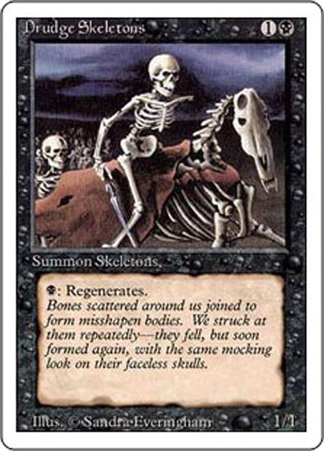 Mtg Reassembling Skeleton Deck by Mtg Magic The Gathering Revised Edition 1994 Drudge