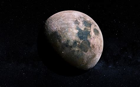 wallpaper moon lunar craters  space