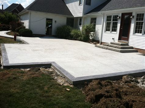 custom concrete plus patio concrete forms patio