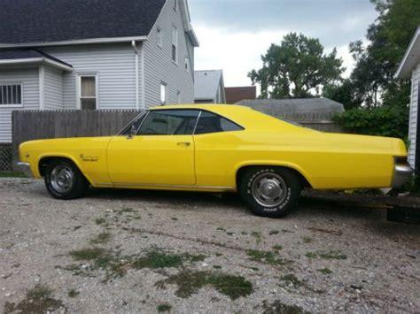 sell used 1966 66 impala ss 427 big block chevy chevrolet in kenosha wisconsin united states